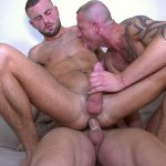 couch bangers with three guys having sex on the couch