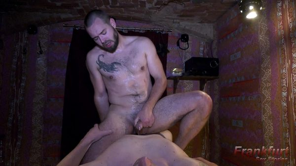 massage guy rides on big cock in massage parlor