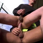 skinny rides a big cock outdoors