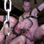 leather sessions vol.2 kinky threesome gay action in leather club