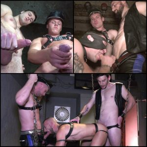 leather fantasies gay kinky hardcore sex in the dungeon