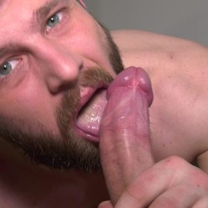 cockwork sexy guy with beard licks on big dick