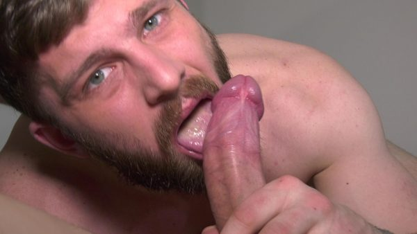 cockwork sexy guy with beard licks on big dick